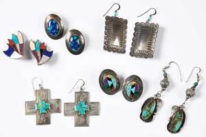 Six Pairs of Southwestern Earrings