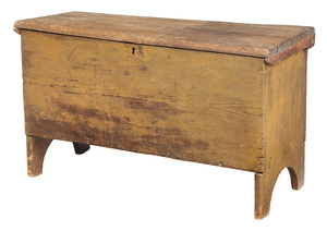 American Paint Decorated Six Board Chest
