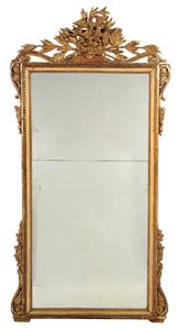Provincial Louis XV Carved Gilt Wood Mirror