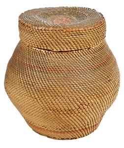 Finely Woven Lidded Basket