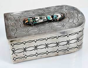 Silver Kachina Box