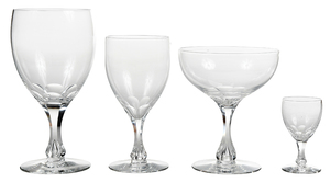 27 Pieces Orrefors Crystal Stemware