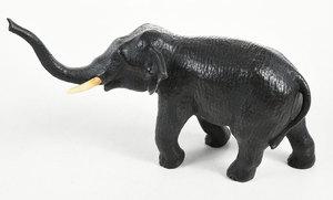 Bronze Japanese Elephant With Upturned Trunk