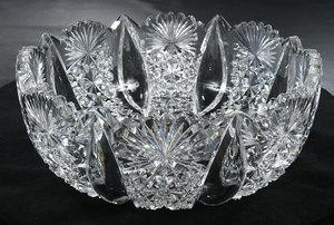 Hawkes Brilliant Period Cut Glass Bowl