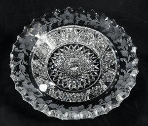 Tuthill Brilliant Period Cut Glass Bowl/Plate