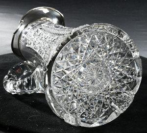Meriden Brilliant Period Cut Glass Pitcher