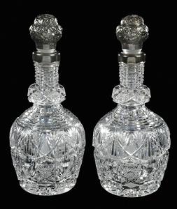 Brilliant Period Cut Glass Decanters