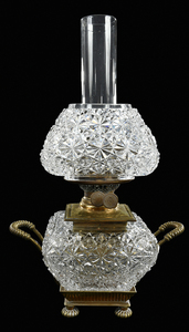 Brilliant Period Cut Glass Oil Lamp