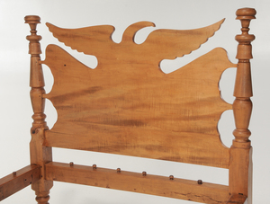 American Classical Eagle-Decorated Bedstead