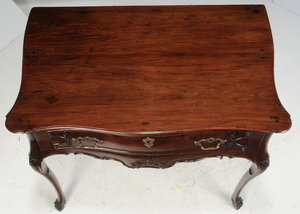 Portuguese Baroque Carved Mahogany Table