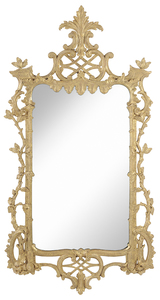 Rustic Chippendale Carved and Gilt Wood Mirror