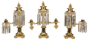Argand Lamp Garniture Set