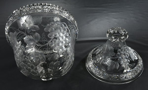 Tuthill Brilliant Period Cut Glass Punch Bowl