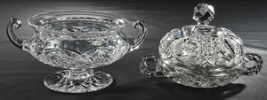 Brilliant Period Cut Glass Caviar Dish, Compote