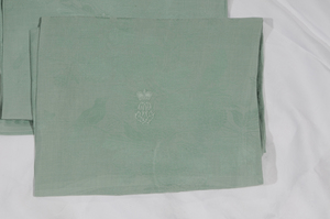 Two Sets Fine Damask Table Linens