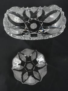 Libbey Brilliant Period Cut Glass Bowl, Plate