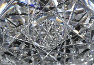 Brilliant Period Cut Glass Pedestal Bowl