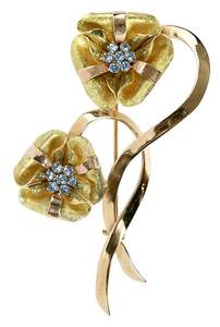 Gold Retro Brooch