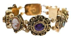 14kt. Gemstone Slide Bracelet