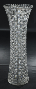 Monumental Brilliant Period Cut Glass Vase