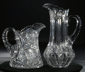 Brilliant Period Cut Glass Jug, Pitcher