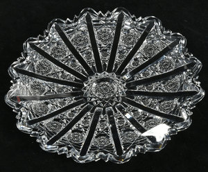 Hawkes Brilliant Period Cut Glass Plate