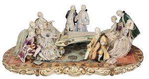 Monumental Cozzi Figural Tableau