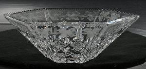 Sinclaire Brilliant Period Cut Glass Bowl