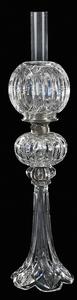 Brilliant Period Cut Glass Banquet Lamp