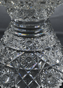 Brilliant Cut Pedestal Glass Bowl, Punch Bowl