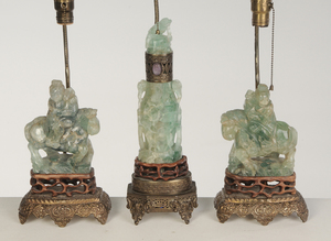 Three Chinese Fluorite Carvings