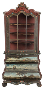 Dutch Baroque Style Bombe Cabinet
