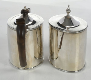 Matching English Silver Teapot and Tea Box