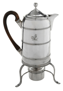 English Silver Hot Water Pot with Stand