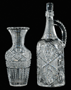 Brilliant Period Cut Glass Demijohn, Vase