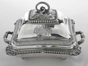 Pair of Paul Storr English Silver Entree Dishes