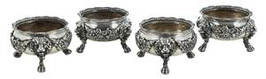 Set of Four English Silver Open Salts