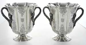 Pair of English Silver Wine Coolers