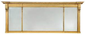 Federal Style Gilt Wood Overmantle Mirror