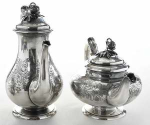 Four Piece English Silver Tea Service