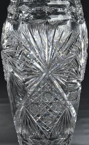 Brilliant Period Cut Glass Mushroom Vase