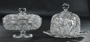 Brilliant Period Cut Glass Tableware