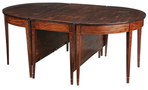 Southern Federal Bell Flower Inlaid Table
