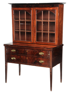 New England Federal Writing Desk and Book Case
