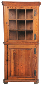 Southern Chippendale Corner Cupboard