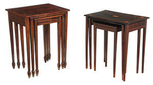 Two Sets of George III-Style Nesting Tables