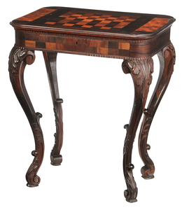 American Victorian Rosewood Games Table