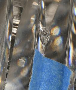Silver Mounted Brilliant Period Cut Glass Stein