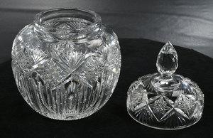 Brilliant Period Cut Glass Ice Tub, Jar