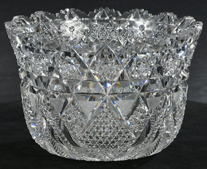 Brilliant Period Cut Glass Punch Bowl